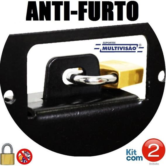 Suporte C/ Trava Antifurto Multivisão New Stpa550 - Kit C/2