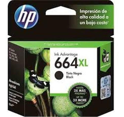 Imagen 1 de 1 de Cartucho Hp 664xl Negro Original F6v31al 8,5ml Hasta 4xmas P