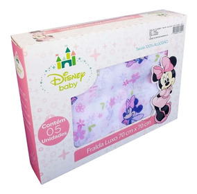 Fralda De Pano Minnie 70x70cm Com 05 Unds Luxo - Disney Baby