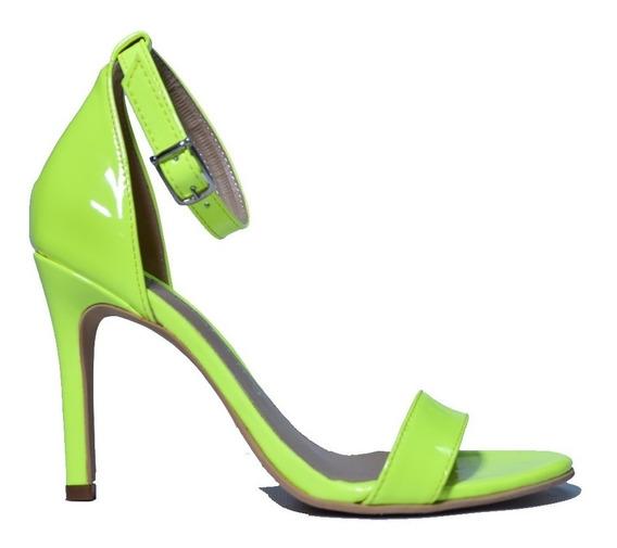 Zapato Sandalia Con Taco Faja Y Tira En Talón