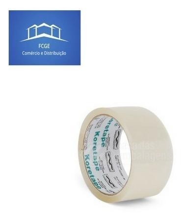 Imagem 1 de 3 de Fita Adesiva 45x45 Transparente Koretape Caixa C/100 Rolosf2