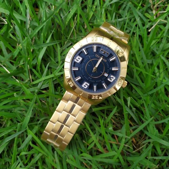 Relógio Masculino Grande Technos 2115kyz C/ Nf Original