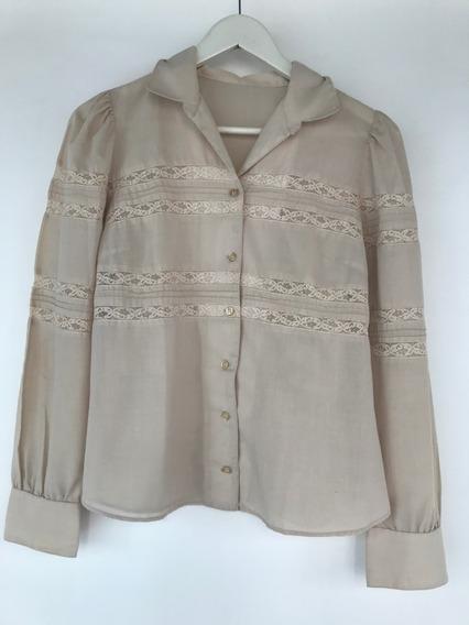 Camisa Feminina Renda Vintage