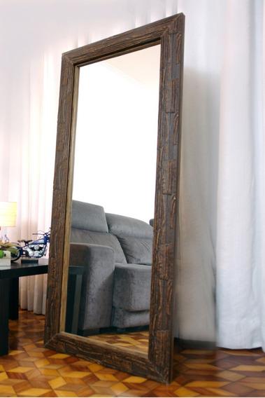 Espelhos Grande De Chao 0,68 X 1,68mts Moldura Rustica