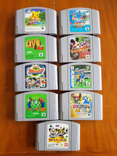 N64 Wave Race Pokemon Mario Golf Pikachu Mickey Usa -9 Jogos