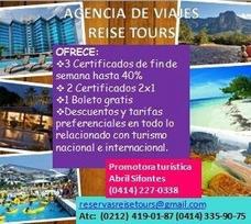 Boletos Aéreos, Full Day, Paquetes Turísticos Entre Otros.