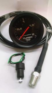 Kit 1 Manômetro Turbo 52mm 2kg Stpt + 1 Kit Inst Cronomac