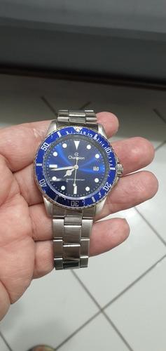 Relógio Champion Masculino Quartz Fundo Azul