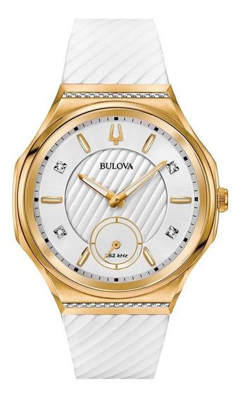 Relógio Feminino Bulova Curv Diamond 98r237 Nfe Frete Grát