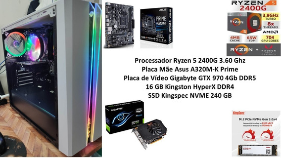 Pc Gamer Ryzen 5 2400g 16 Gb Ssd 240 Gb Gtx 970 4gb