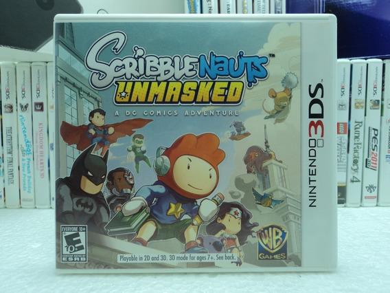 Scribble Nauts Unmasked A Dc Comis Adventure - Nintendo 3ds!