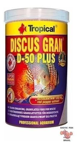 Ração Tropical Discus Gran D-50 Plus 440g Para Acara Diccos
