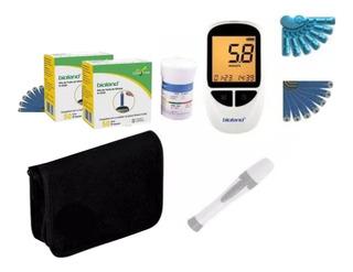Kit Medidor De Glicose Completo Bioland - Ref.g-500