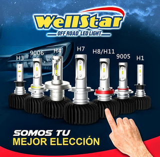 Bombillos Luces Led Wellstar H1 H3 H4 H7 9005 9006 Par
