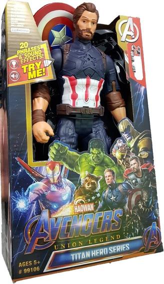Boneco Vingadores Capitão América A Articulado 32cm Avengers