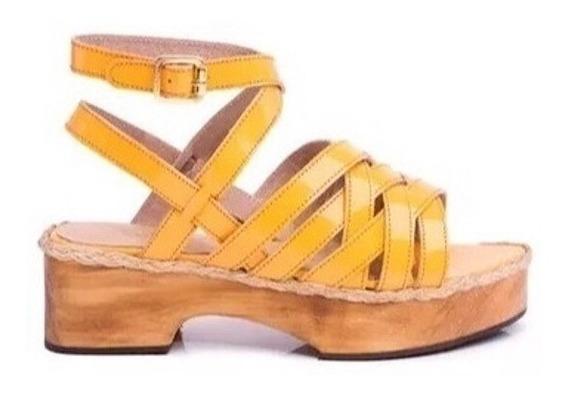 Zapato Mujer Sandalia Natacha Charol Caramelo #2991