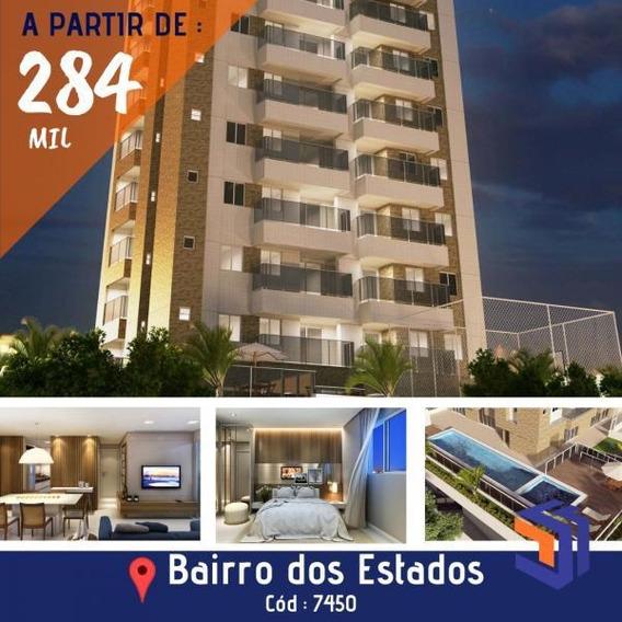 Apartamento Para Venda Em João Pessoa, Bairro Dos Estados, 2 Dormitórios, 1 Suíte, 1 Banheiro, 2 Vagas - 7450