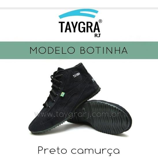 Taygra Botinha Preta De Camurça Original