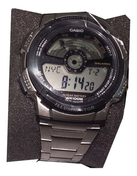 Relógio Casio Masculino World Time Ae-1100wd-1avdf