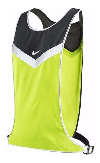 Chaleco Nike Running Neon Con Reflejantes Talla S/m