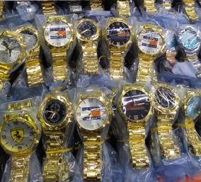 Kit Com 5 Relógios Unisex + Caixas Atacado Revenda