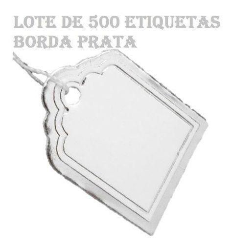 Etiquetas De Preço Com Barbante Lote 500 Unidades Barato Asb