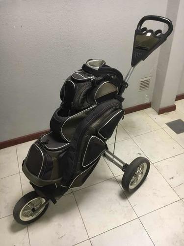 Bolsa De Golf Orlimar Con Carro Orlimar De 3 Ruedas Usado!