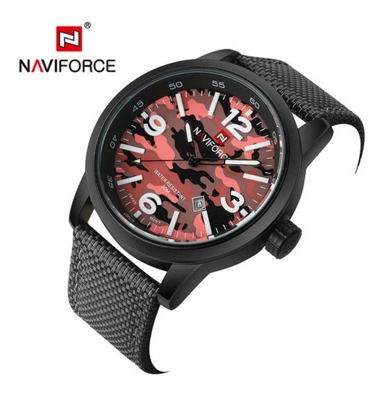 Relógio Pulso Masculino Naviforce Militar Camuflado Original