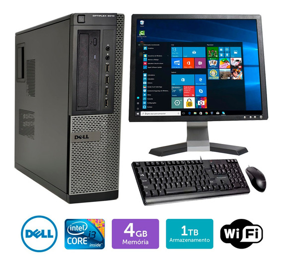 Cpu Barato Dell Optiplex 9010int I3 4gb 1tb Mon17q Brinde