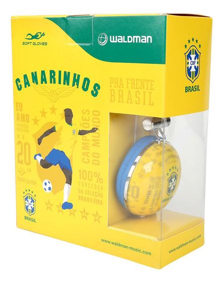 Fone De Ouvido Da Seleção Brasileira Waldman Amarelo -bn