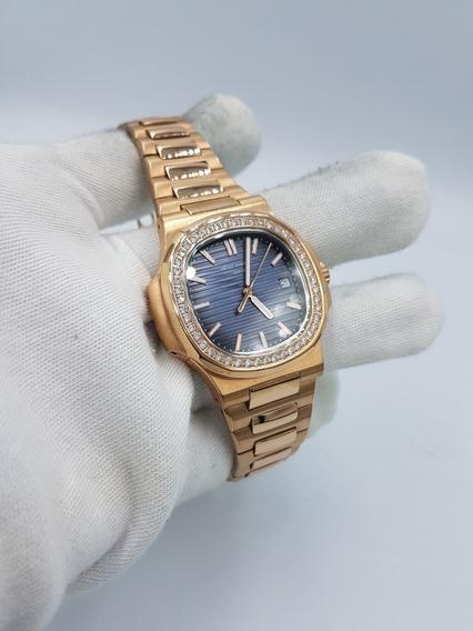 Reloj Patek Philippe Cristales Acero Inoxidable Rosado