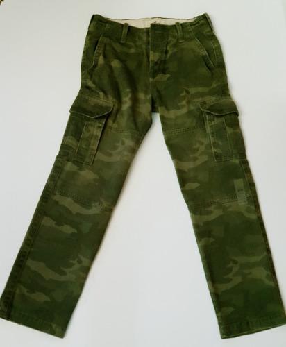 Pantalon Cargo Camuflado Hollister Abercrombie & Fitch 28x30