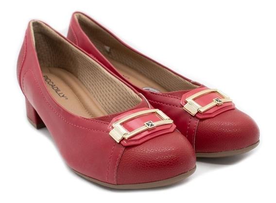 Sapato Piccadilly 141096 Vermelho