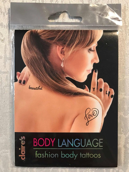 Body Language Fashion Body Tattoos - Tatuagem Temporária