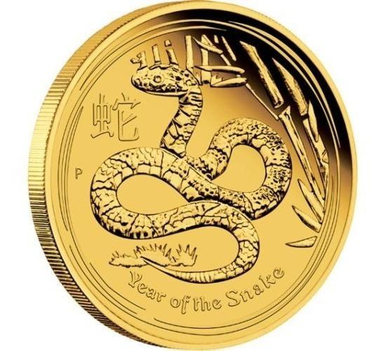 Moeda De Ouro .9999 - Ano Da Serpente 2013 - 1/10 Ozt
