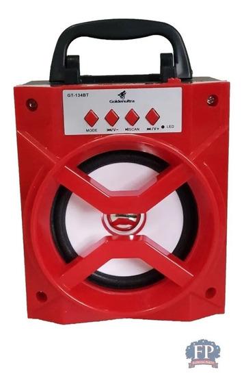 Caixa De Som Bluetooth Usb Radio Fm Sdcard Gt-133bt