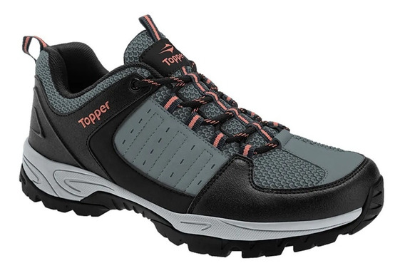 Topper Zapatilla Outdoors Mujer Vulcano Gris - Coral