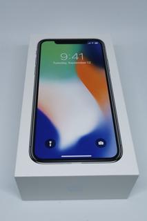Caixa De iPhone X 10 Vazia Silver Black 64gb 256gb