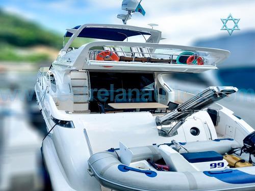 Imagem 1 de 10 de Lancha Intermarine 600 Full Iate Ferretti Carbrasmar Armada