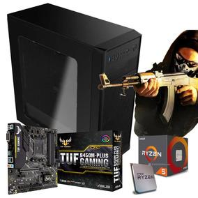 Pc Cpu Gamer Ryzen 5 2400g + Asus Tuf B450m-plus Gaming +8gb