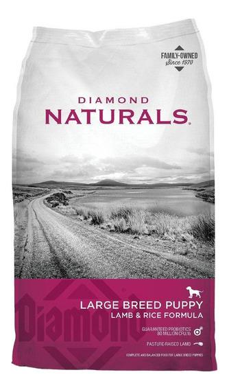 Alimento Diamond Naturals Large Breed Puppy perro cachorro raza grande cordero/arroz 9kg
