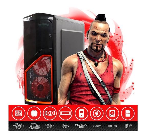 Pc Gamer Mesh Amd Fx-8500, 16gb Ram, Hd 1tb + Ssd 120gb