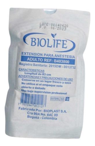 Extensión De Anestesia Adulto Largo 83 Cms Biolife