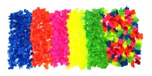 Collar Hawaiano X 6 Unidades De Cualquier Color - Big Party