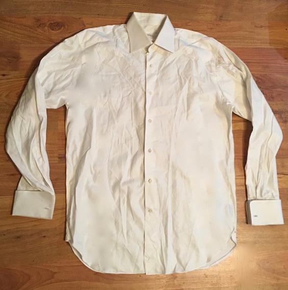 Padrisima Camisa Ermenegildo Zegna Blanca M Regular Fit!!