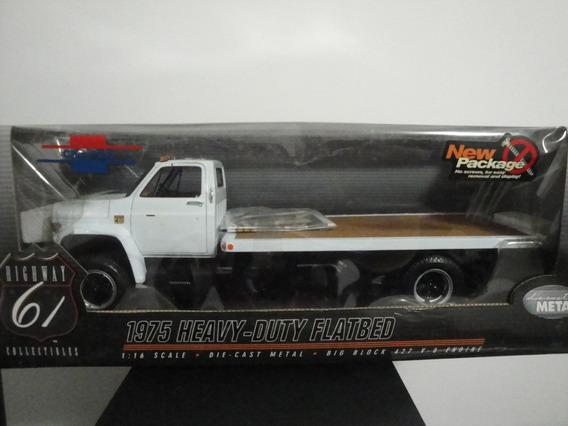 Mini Caminhão Chevrolet Prancha 1975 Highway 61 White 1:16