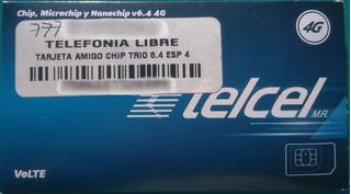 10 Chip Sim Telcel 3g 4g Lte Lada Morelos 777