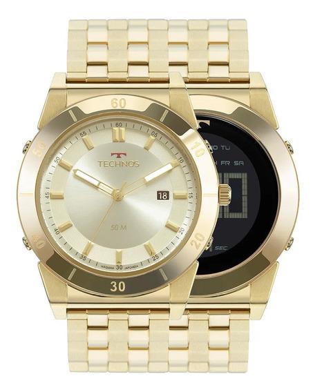 Relógio Masculino Technos Coleção Curvas 1s13cq/4x