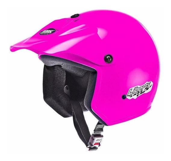 Capacete para moto aberto Pro Tork Liberty rosa tamanho 58