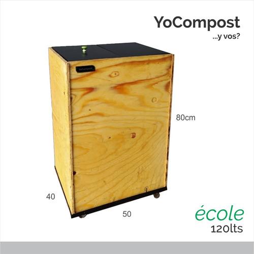 Compostera Yocompost École 120 L Madera + Curso Compostaje